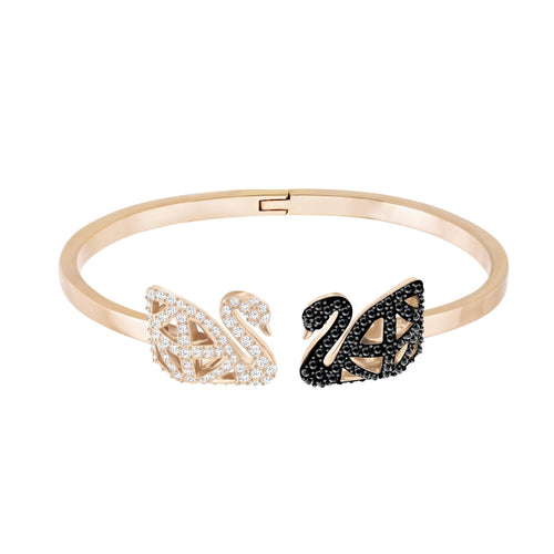 Swarovski Facet Swan Bangle Rose Gold, Large