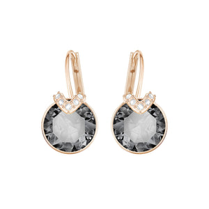 Swarovski Bella V Earrings Rose Gold, Silvernight