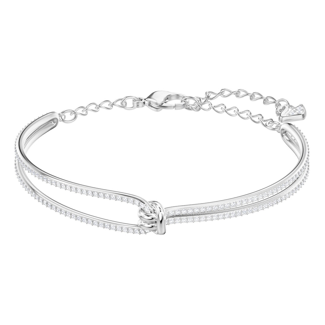 Swarovski Lifelong Bangle Rhodium Plating