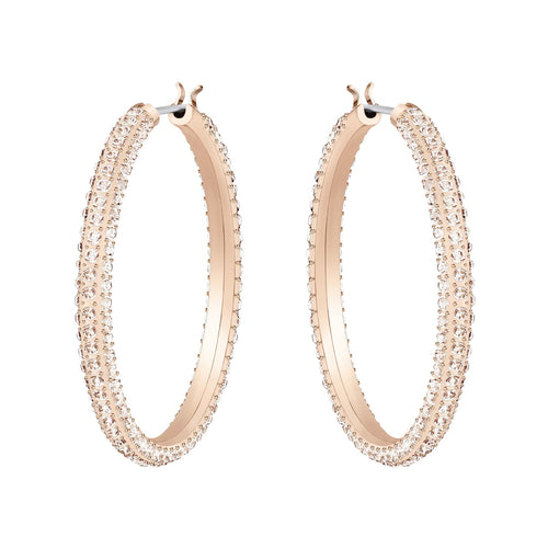 Swarovski Stone Hoop Earrings Rose Gold