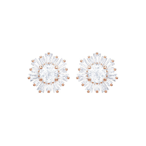 Swarovski Sunshine Rose Gold Stud Earrings