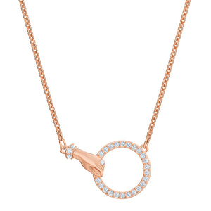 Swarovski Symbolic Necklace, White, Rose Gold Plated