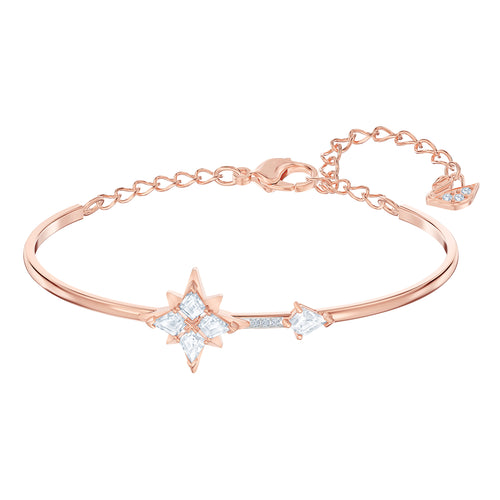 Swarovski Symbolic Star Bangle, Rose Gold Plated