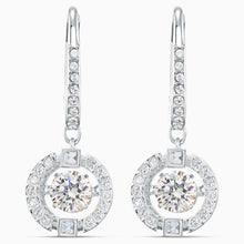 Load image into Gallery viewer, Swarovski Sparkling Dance Pierced Earrings Rhodium