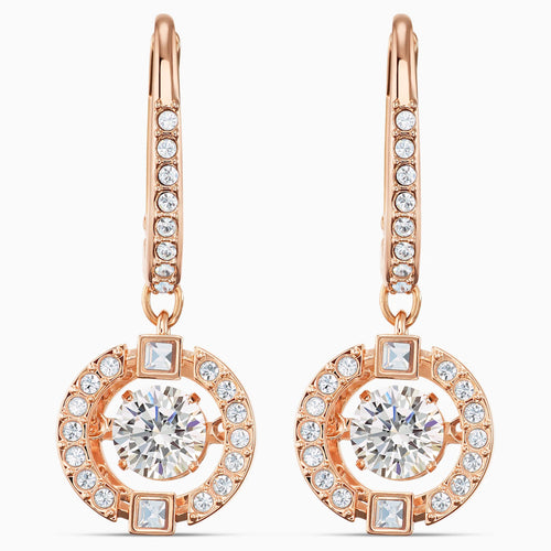 Swarovski Sparkling Dance Pierced Earrings Rose Gold