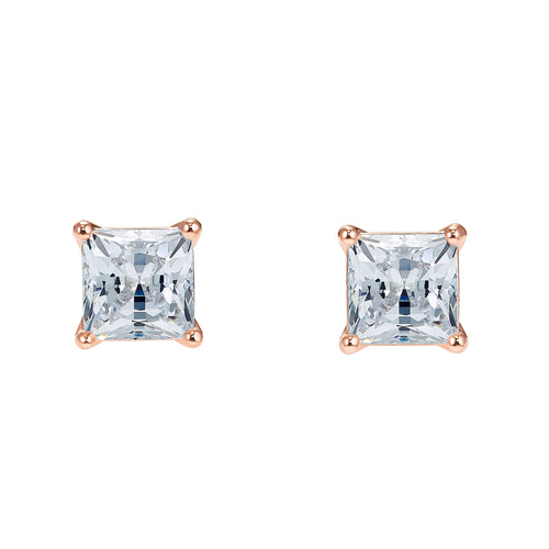 Swarovski Attract Square Earrings Rose Gold