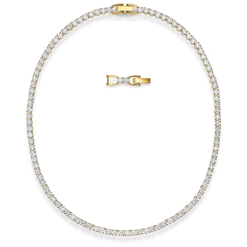 Swarovski Tennis Deluxe Necklace Gold Tone Plated
