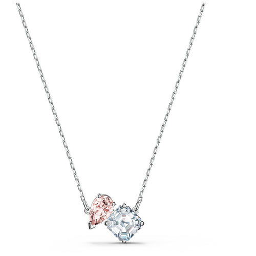 Swarovski Attract Soul Necklace, Pink, Rhodium Plated