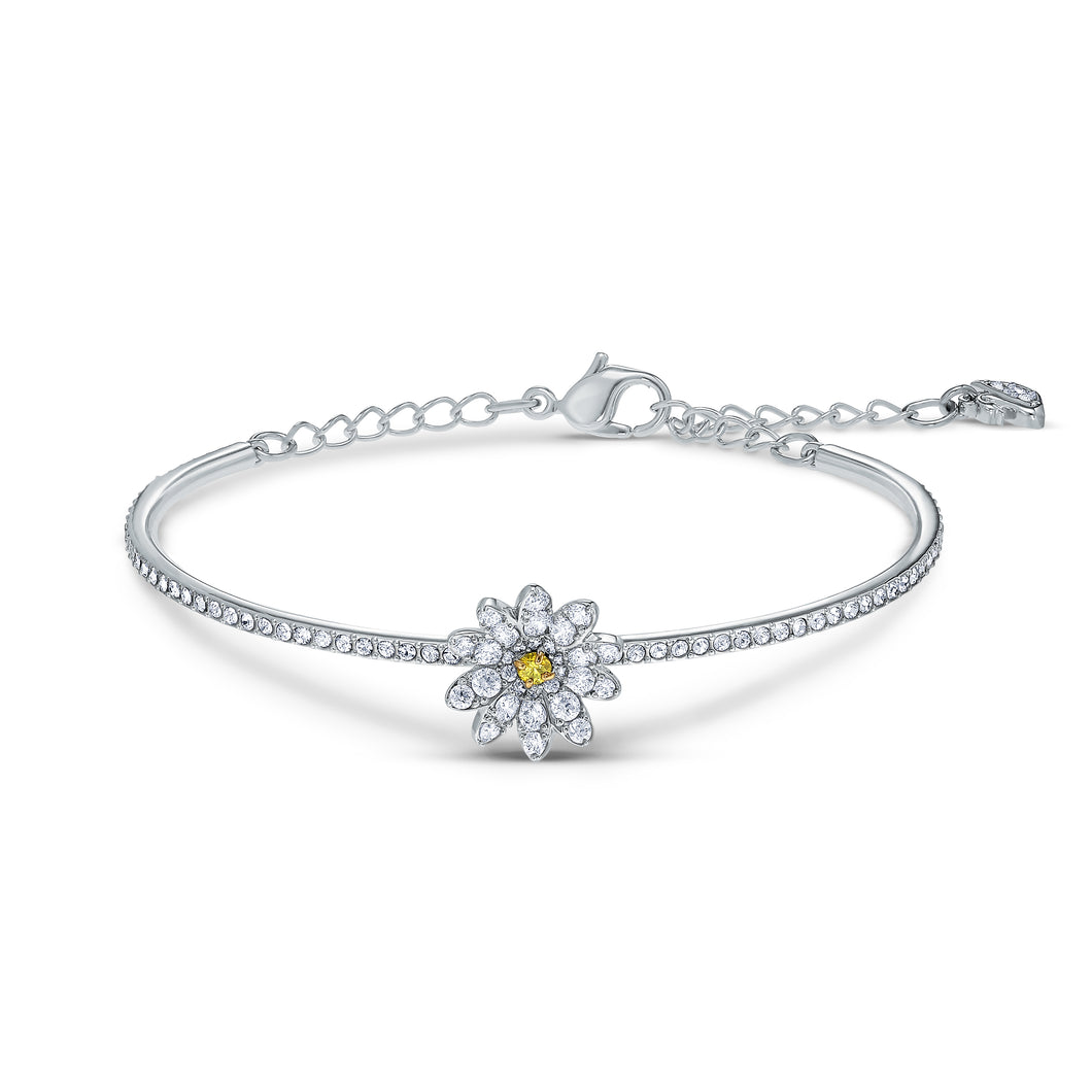 Swarovski Eternal Flower Bangle, Yellow, Mixed metal