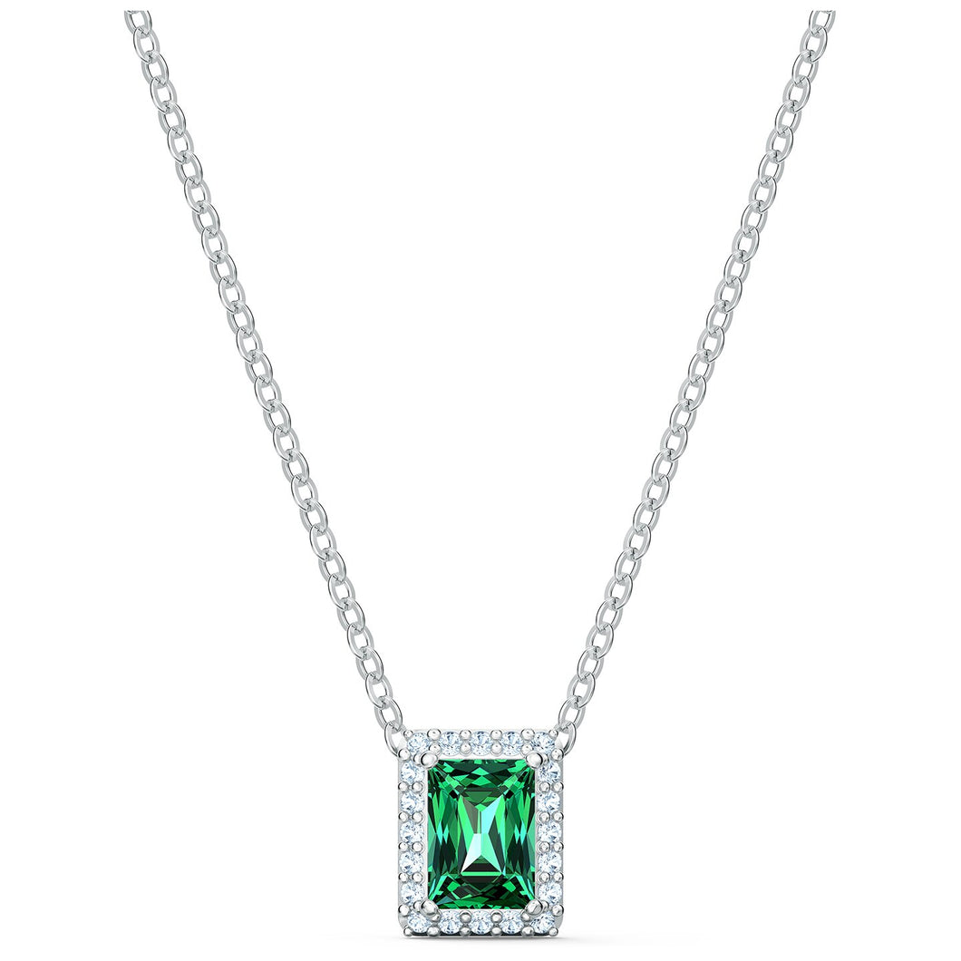 Swarovski Angelic Rectangular Necklace, Green