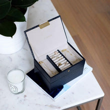Load image into Gallery viewer, Stackers Navy Croc Mini Jewellery Box - Free Delivery