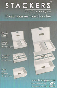 Mini Stackers Mink 11 Section Jewellery Tray