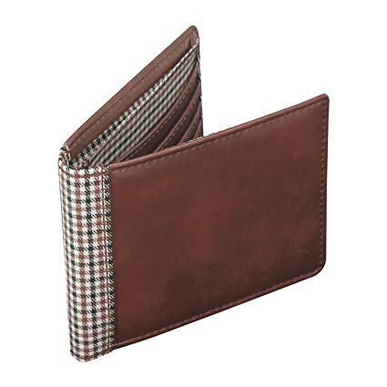 Jacob Jones Wallet Tan & Check
