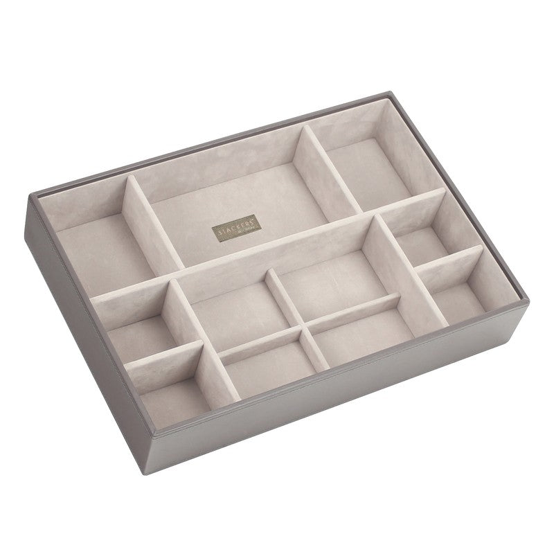 Super Size Stacker Jewellery Tray Mink Deep Sections