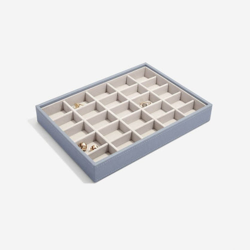 Stackers Dusky Blue 25 Section Compartment Tray