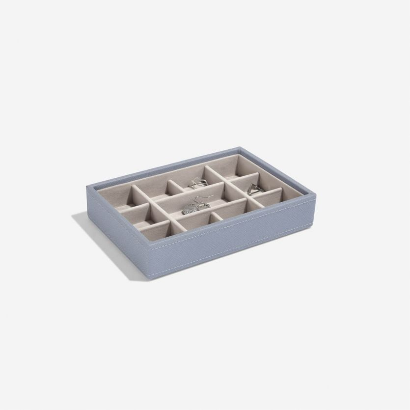 Mini Stackers Dusky Blue 11 Section Jewellery Tray