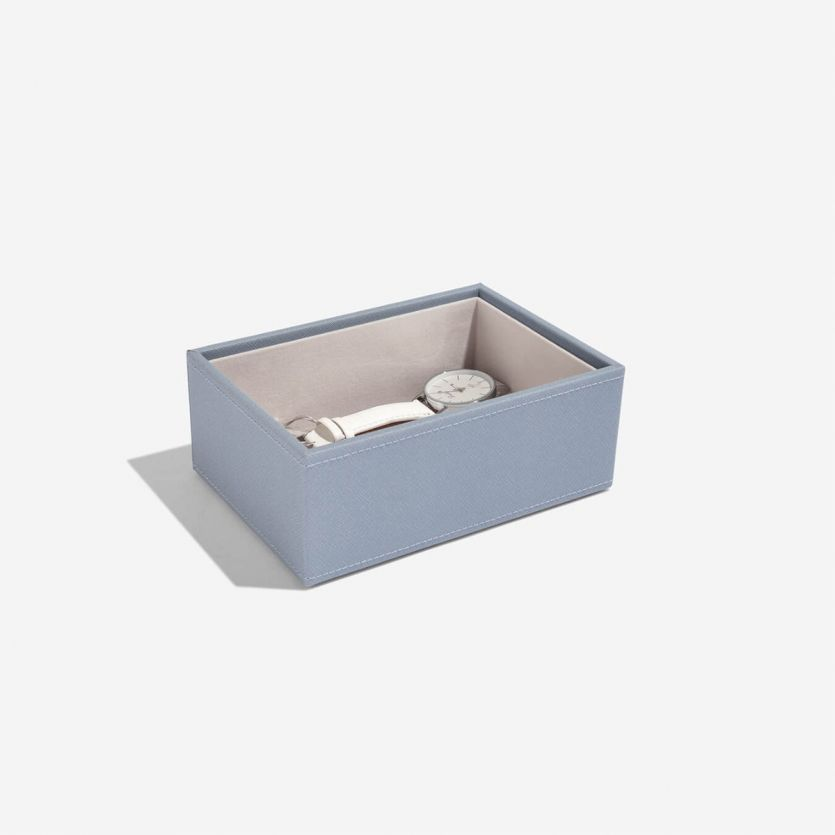 Mini Stackers Dusky Blue Deep Open Section Tray
