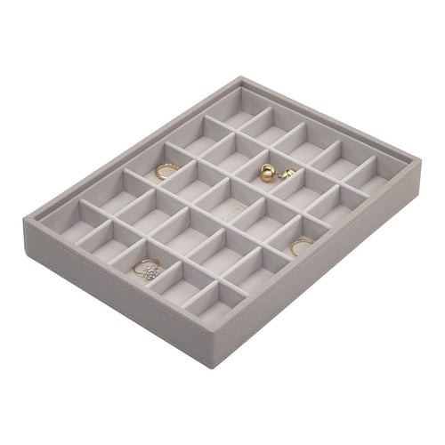 Stackers Taupe 25 Section Compartment Tray