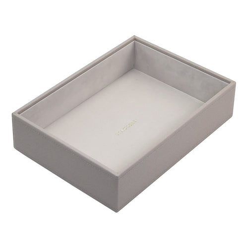 Stackers Taupe Deep Open Compartment Tray