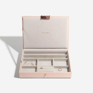 Stackers Blush Lidded Jewellery Tray