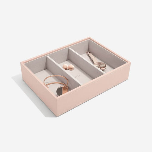 Stackers Blush 3 Section Deep Jewellery Tray