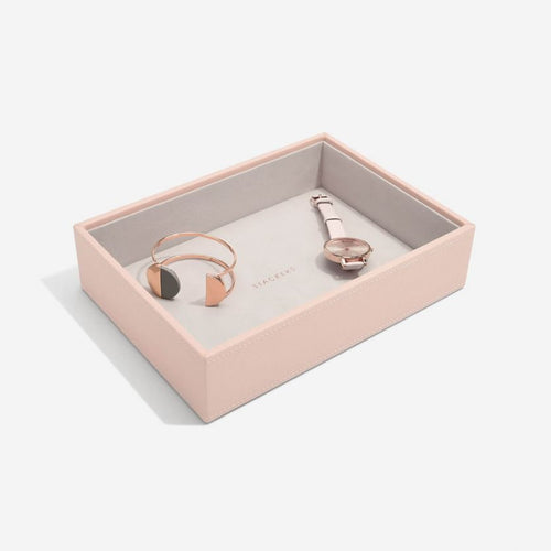 Stackers Blush Deep Open Compartment Tray