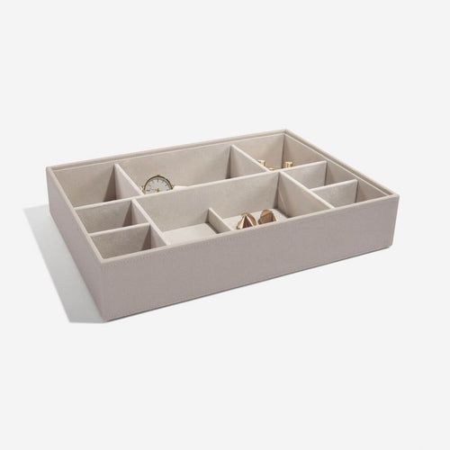 Super Size Stacker Jewellery Tray Taupe Deep Section