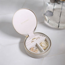 Load image into Gallery viewer, Stackers Mock Croc Round Putty Travel Jewellery Box