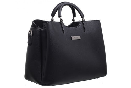 Bessie Tote Black Grab Handle Handbag