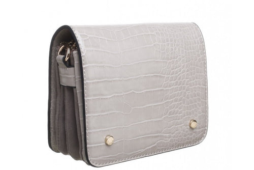 Bessie Cross Body Grey Croc Handbag