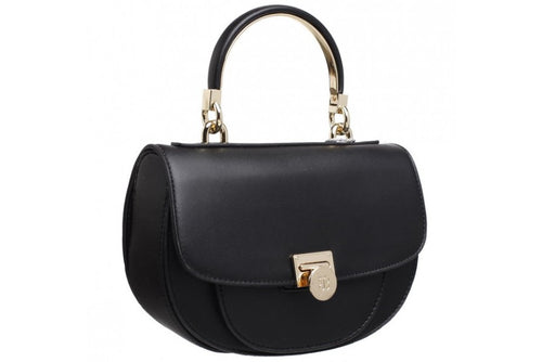 Bessie Top Handle & Cross Body Black Handbag