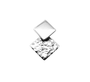 Tianguis Jackson Hammered Polished Square Earrings