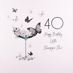 40 Happy Birthday Let The Champagne Flow - Five Dollar Shake