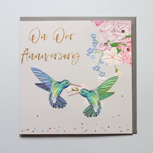 On Our Anniversary Hummingbirds - Belly Button Designs