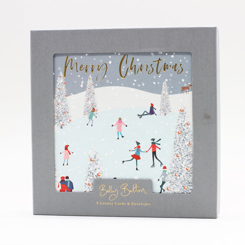 Belly Button Luxury Christmas Cards Ice Skating