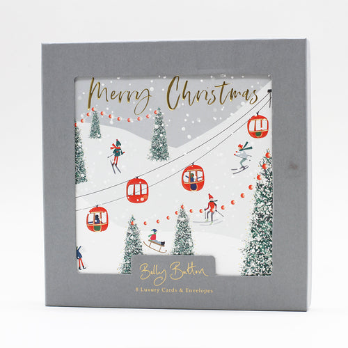 Belly Button Luxury Christmas Cards Cable Car