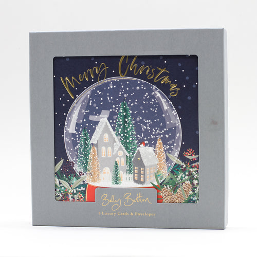 Belly Button Luxury Christmas Cards Snow Globe