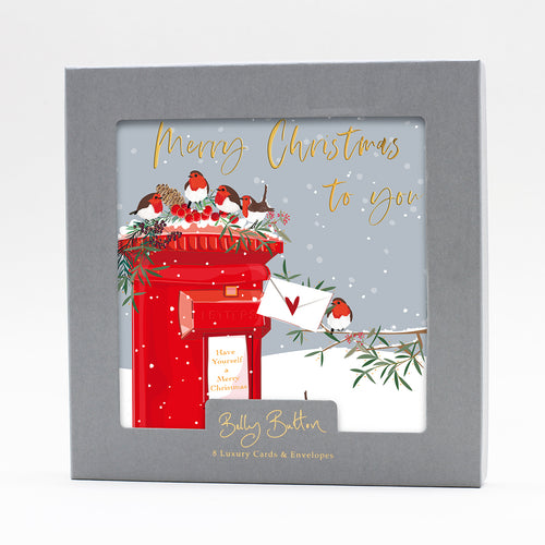 Belly Button Luxury Christmas Cards Letter Box