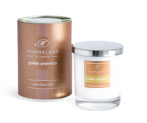 Marmalade Of London Golden Amaretto Luxury Glass Candle