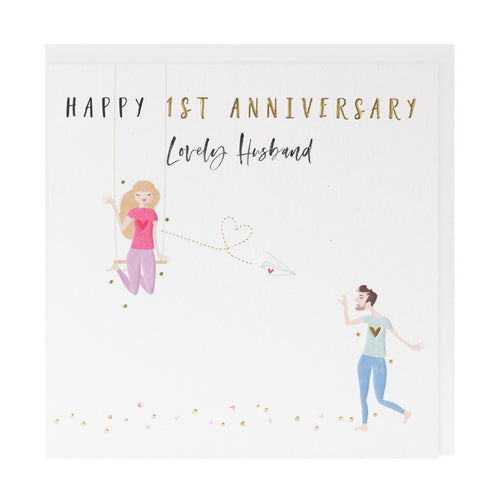 Happy 1st Anniversary Husband - Belly Button Designs