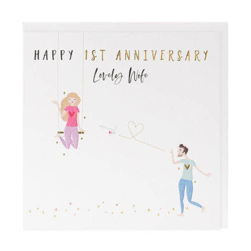 Happy 1st Anniversary Wife - Belly Button Designs