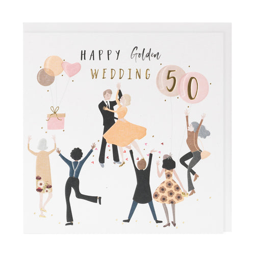 Happy 50th Wedding Anniversary - Belly Button Designs