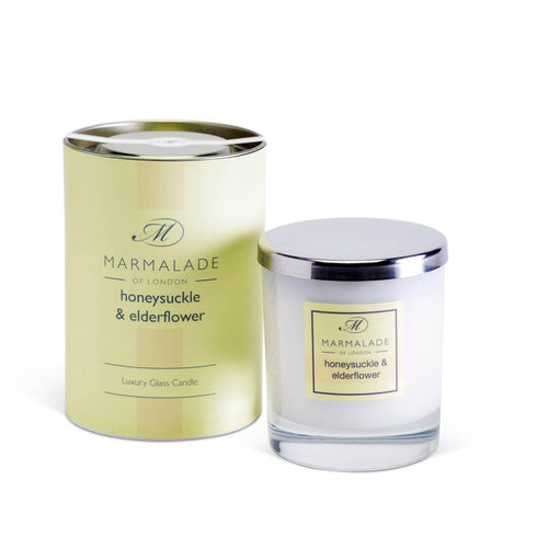 Marmalade Of London Honeysuckle & Elderflower Luxury Glass Candle