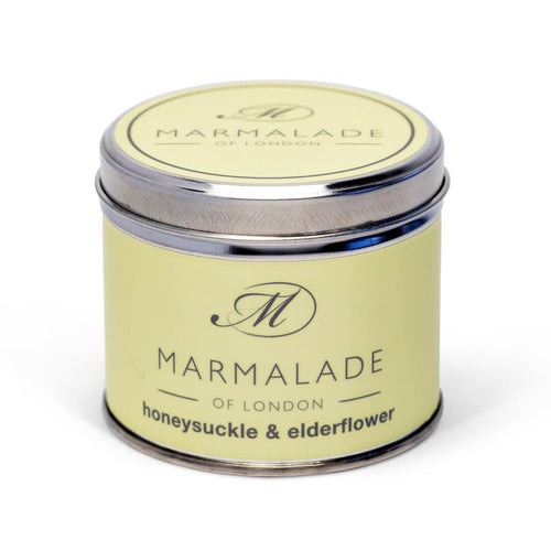 Marmalade Of London Honeysuckle & Elderflower Medium Tin Candle