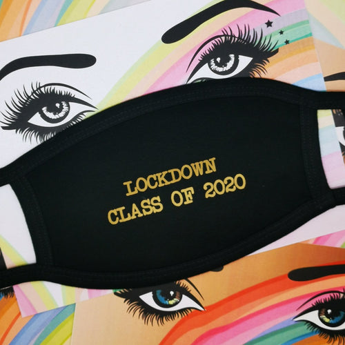 Lockdown Class of 2020 Face Mask by Five Dollar Shake