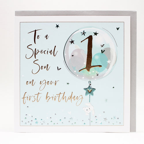 To A Special Son On Your 1st Birthday - Belly Button Designs