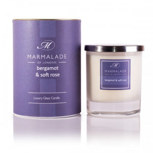 Marmalade Of London Bergamot And Soft Rose Luxury Glass Candle