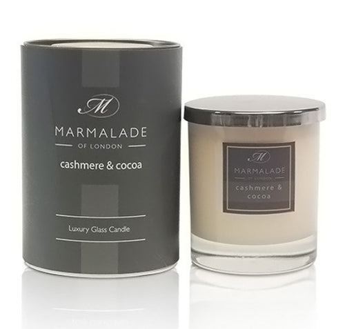 Marmalade Of London Cashmere And Cocoa Luxury Glass Candle