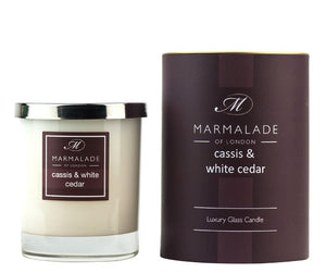 Marmalade Of London Cassis And White Cedar Luxury Glass Candle