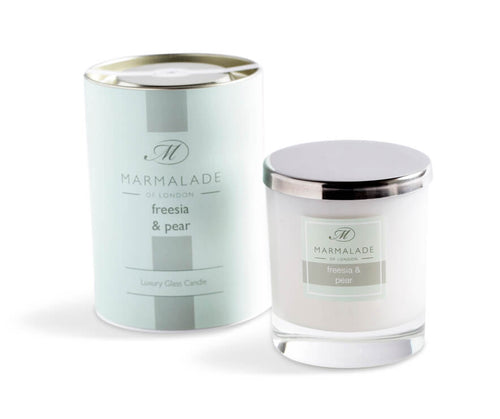 Marmalade Of London Freesia And Pear Luxury Glass Candle